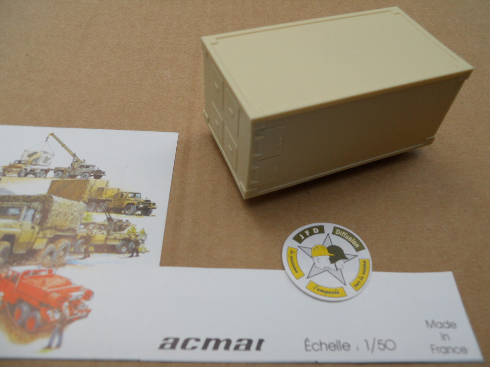 VEHICLE MILITARY ACMAT DETACHED PIECES 1 50 FOR ACMAT CEF SHELTER BEIGE