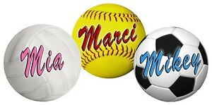 Softball-Soccer-Volleyball-Decal-Bumper-Sticker-Personalize-Gifts-Girls-Boys