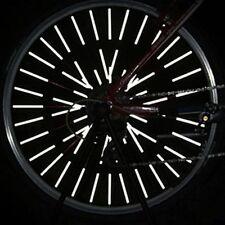 12PCS Spoke Mount Reflective Tube Wheel Warning Light Strip Bicycle Reflector