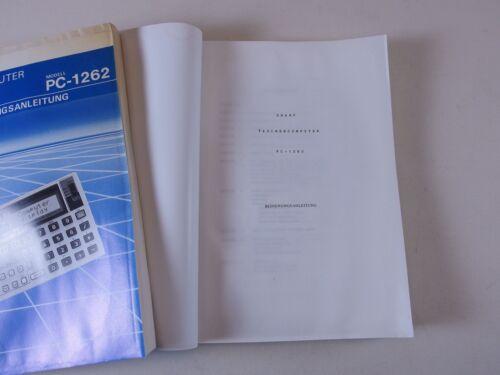 SHARP Taschencomputer PC-1262 1260  Bedienungsanleitung 1261 Handbuch