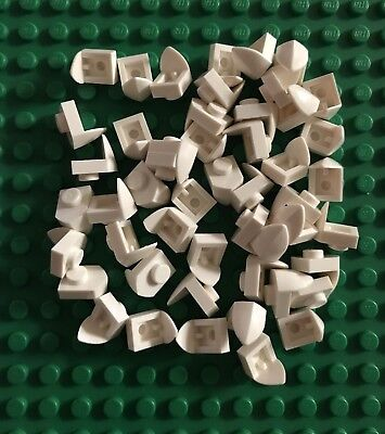 NEW-100 PIECES LEGO-#15070 WHITE 1 X1 PLATE MODIFIED VERTICAL TOOTH-CHRISTMAS
