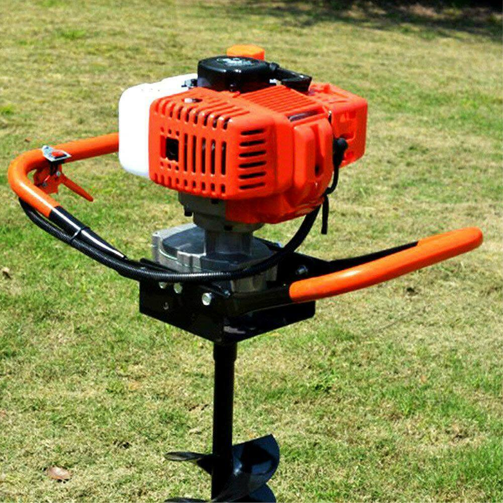 Areyourshop 55CC 2 Stroke Gas Post Hole Digger One Man Auger EPA Machine Plant Soil Digging Fence