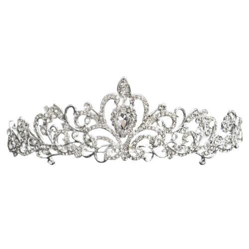 Women Bridal Crystal Crown Tiara Princess Hair Head Band Wedding Party Decor