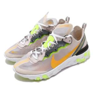 fa2a1b96 Nike React Element 87 Orewood Brown Orange Mens Running Shoes AQ1090 ...