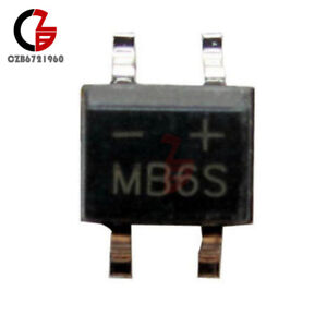 MB6S MB6F SMD Bridge Rectifier Rectifier 600V 0,5A SOP4 10 Piece