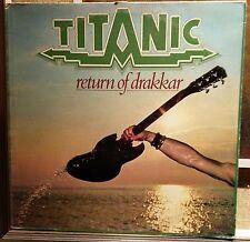 Titanic – Return Of Drakkar Lp Italian issue 1977 VG+/NM with Inner