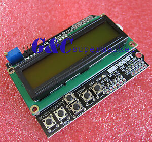 1602-LCD-Board-Keypad-Shield-Yellow-Backlight-For-Arduino-Duemilanove-Robot-M77