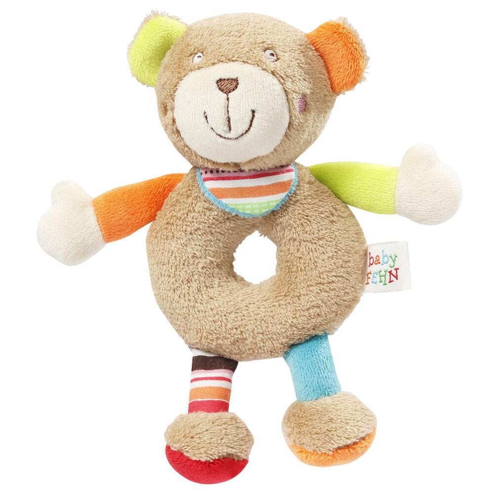 Bär Rassel Teddy Teddybär Greifling Soft Touch mit einem Rasselkopf