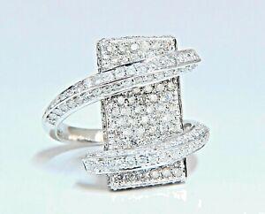 2-50-Kilates-Natural-Diamantes-Anillo-Cruzado-Bobina-Simple-Envolvente-18