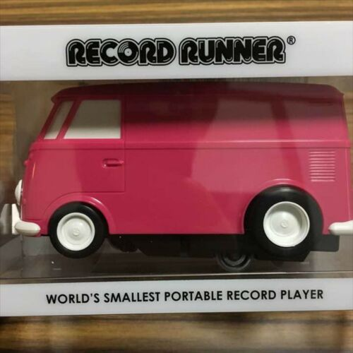 RECORD RUNNER Volkswagen Type2 Magenta Portable Record Player Runner Pink Japan