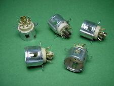 5 x Rimlock Fassungen 8 pin. B8A Philips NOS für ECC40 EF40 EL41 EL42 Tube amp