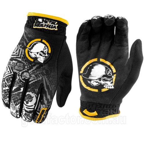 NEW Metal Mulisha VOLT Black Yellow Gloves motocross atv off road