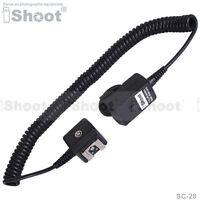 2.5m Flash I-TTL Off-Camera Shoe Cord/Cable wt PC SYNC Jack fr Nikon SC-28/SC-29