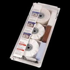 """★""""˜ PROFI Polierset 3x 2 Polierscheiben D100x10 + 3 Polierpasten + Spanndorn ˜""""★"""