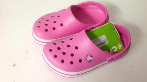 Crocs Crocband Clog K party pink relaxed fit  204537-6U9 kids size UK c12