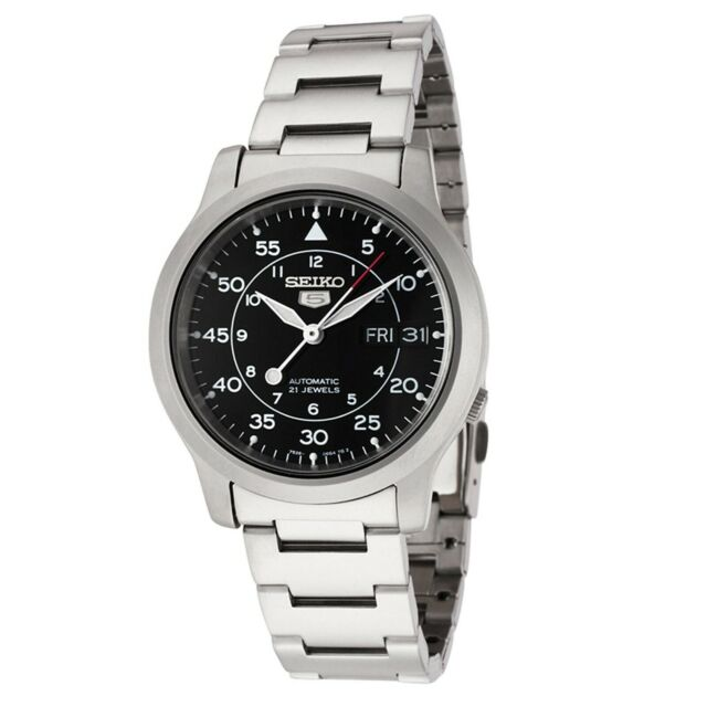 Seiko Series 5 Automatic Black Dial Analog Stainless Steel SNK809K1 Men's Watch