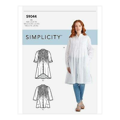 Button Front Blouses with Tucks Size 6-14 16-24 Simplicity Sewing Pattern 4229