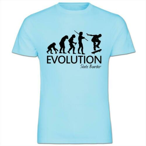 Evolution of a Skate Border Kids Boy Girl Cotton T-Shirt