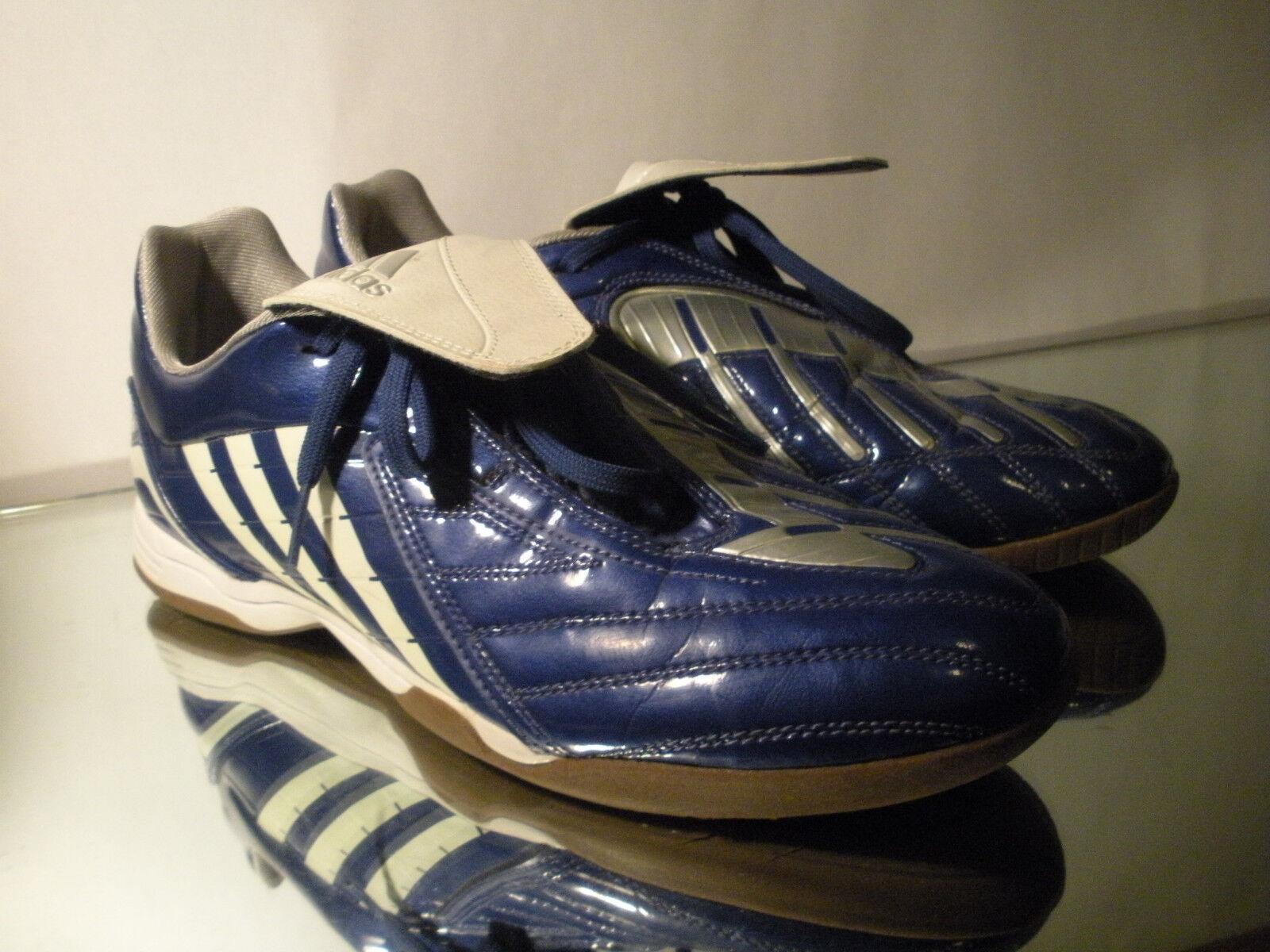 2d1d56d8c6e Adidas Predator Powerswerve Absolado Indoor Soccer Soccer Soccer Flat shoes  blueee White Sz 11.5 c9806f