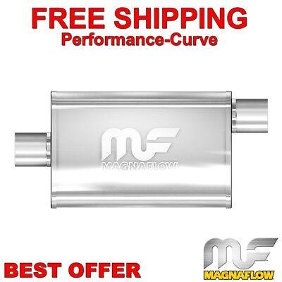 "2.25/"" O//C Performance 18/"" Muffler MAX FLOW Stainless Steel 5x8 MF2255"
