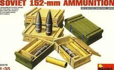 MiniArt Sowjetische 152-mm Munition mit Kisten w. Boxes 1:35 Diorama Ammunition