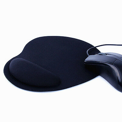 Black Comfort Wrist Support Mat Mouse Mice Pad Computer PC Laptop Soft Gel Rest