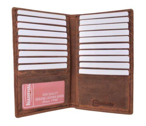 Genuine Leather Credit Card Holder Wallet 19 Card Slots 1 ID Window