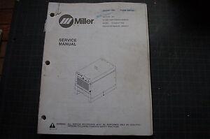 miller welder dimension 400 generator owner service repair manual rh ebay com Miller Passport Welder Miller Bobcat 250 Welder