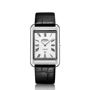 Rotary-GS05280-01-Men-039-s-Cambridge-Oblong-Wristwatch