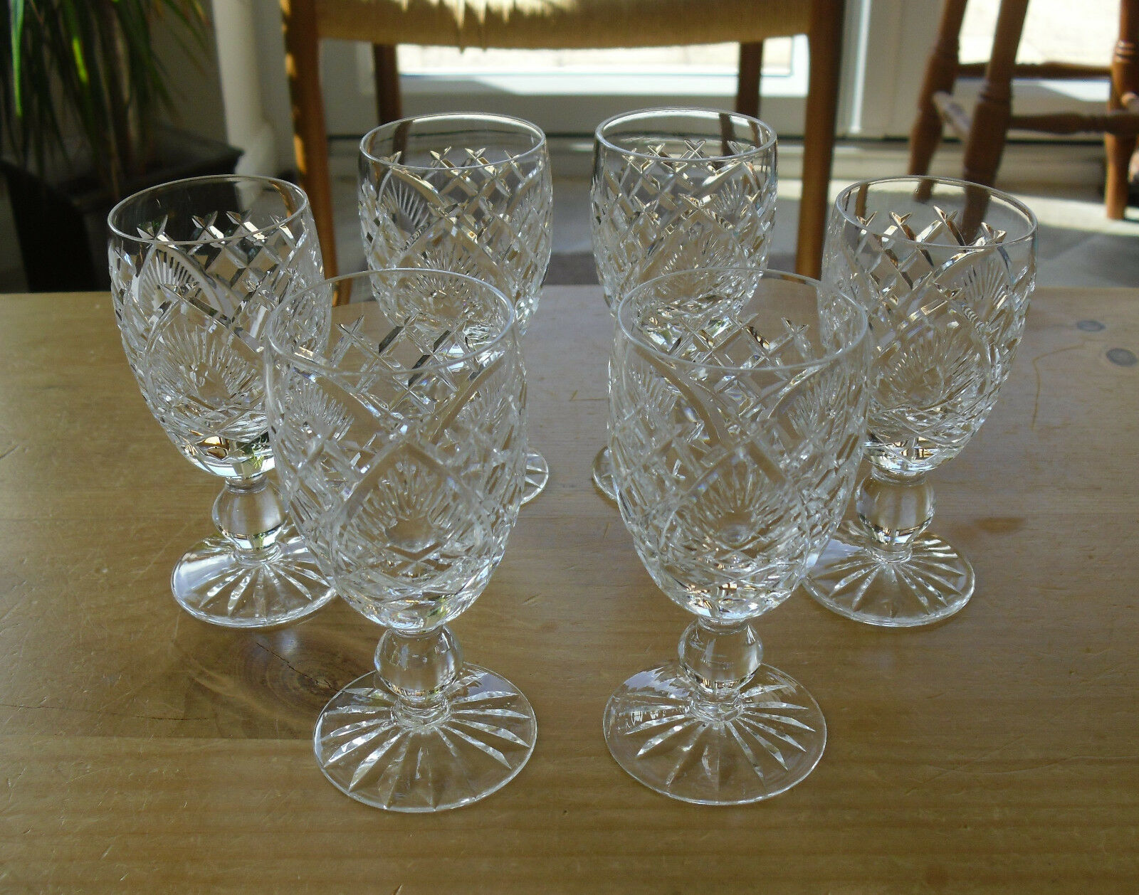 Lot de 6 WATERFORD CRYSTAL  602  Motif Sherry Lunettes - 4 1 4  (  10.75cms)