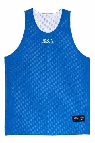 K1x réversible Practice Basket Jersey mk2-Noir Blanc Bleu Marine Rouge Violet