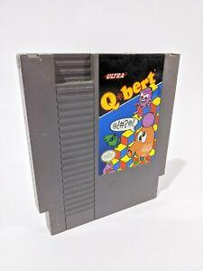 Nintendo NES Q*bert Qbert Q Bert Video Game Cartridge *Authentic/Tested*