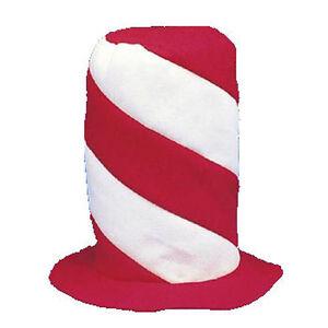 Stove Pipe Hat Red White Stripe Santa Christmas Or Dr