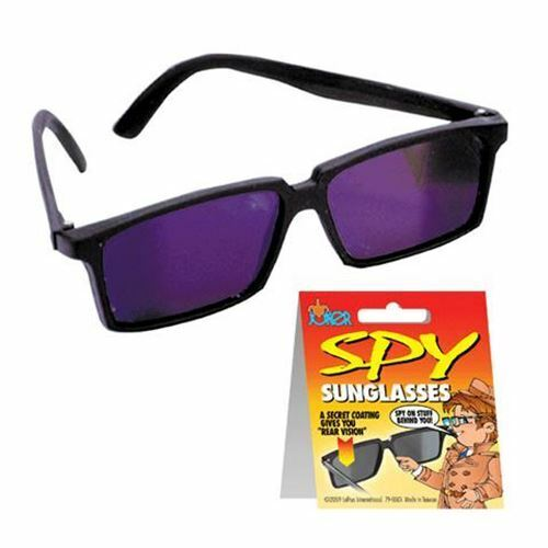Zugar Land Top Secret Spy Glasses for Kids Detective Gadget View Behind You Perfect Party Favors. 3 Pack Rear View Sunglasses