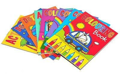 8 X A6 Mini Colouring Books For Kids Party Bags Fillers Boys Girls Toys Ebay