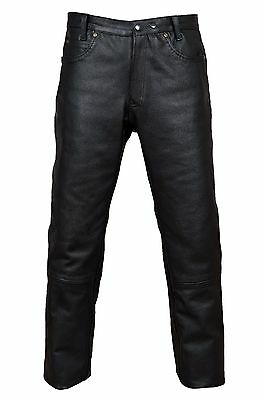 Haben Sie Einen Fragenden Verstand Lederhose Zimmermann Motorradhose Biker Rindleder 5 Taschen Lederjeans Schwarz