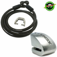 Xena 1.5m Cable and XX10 Alarm Motorcycle Disc Lock