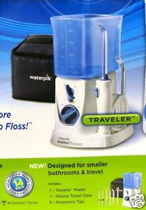 waterpik traveler wp 305 wp 270 water flosser water jet teeth new sealed ebay. Black Bedroom Furniture Sets. Home Design Ideas