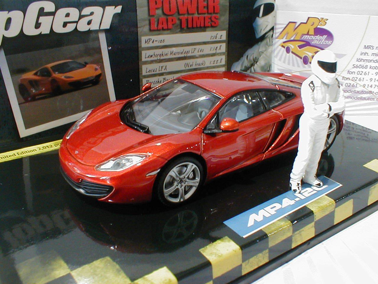 519431330 McLaren MP4-12C Baujahr 2011   orangemetallic   1 43 Top Gear m.Figu