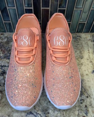 Monogrammed Glitter Sneakers / Monogram Glitter Sh