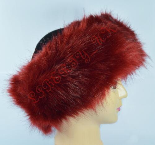 Ladies Russian ** FOX ** Faux Fake Fur Hat HeadBand Winter Earwarmer Hat Ski NEW