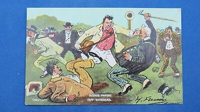 Vintage Comic Postcard 1900s Horse Racing Bet Betting BOOKIE PAYING OUT  WINNERS | eBay