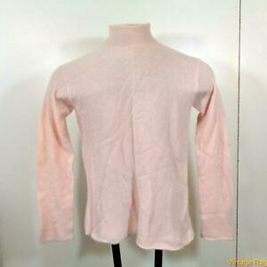 NEIMAN-MARCUS-Mockneck-CASHMERE-L-S-Sweater-Womens-Size-L-Pink
