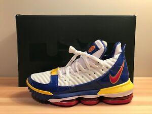 89896dcfdad Image is loading Nike-Lebron-16-SB-Suberbron-Superman-White-Basketball-