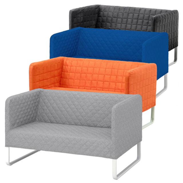 Ikea Sofa Knopparp 2er Sofa Couch Textil Bezug Waschbar 119x76x70cm Div Farben