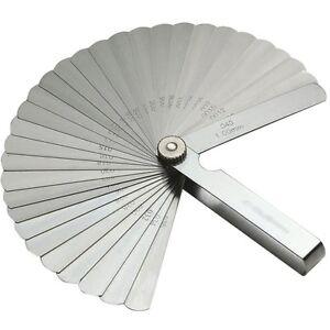32 Blade Stainless Steel Feeler Gauge Plug Set Metric Standard Measure Gap Tools