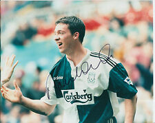 LIVERPOOL HAND SIGNED ROBBIE FOWLER 10X8 PRESS PHOTO.