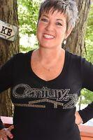 Century 21 Rhinestone Bling Shirt Xs S M L Xl Xxl 1x 2x 3x 4x 5x