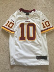 Details about ROBERT GRIFFIN III Nike Washington Redskins RG3 Youth On Field White Jersey sz M