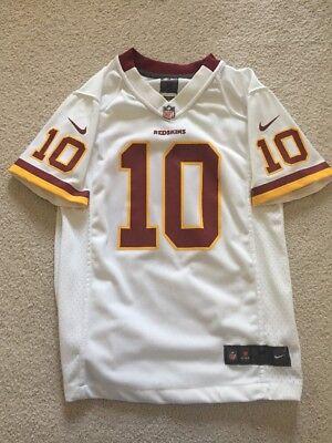 ROBERT GRIFFIN III Nike Washington Redskins RG3 Youth On Field White Jersey sz M | eBay